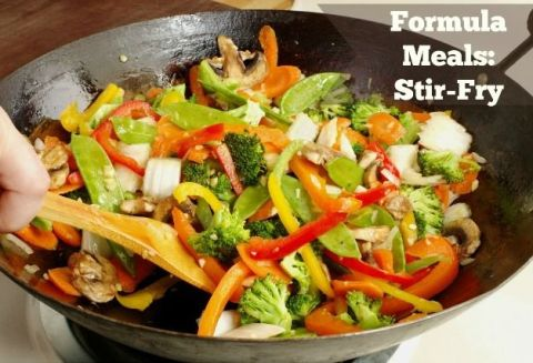 #HealthyKitchenHacks: Formula Meals - like this stir fry - make healthy cooking a snap.
