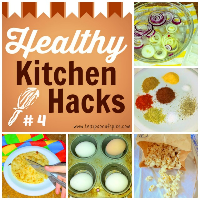 #HealthyKitchenHacks: Take The Bite Out of Raw Onions, DIY Microwave Popcorn, Homemade Taco Seasoning, Make Hard Boiled Eggs in Your Oven & How to Easily Cut Quesadillas