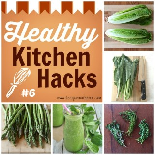 #HealthyKitchenHacks: How to Keep Lettuce Crisp, How to Quickly Cut Hearty Greens, Keep Asparagus Fresher Longer, What To Do With Leftover Herbs, All Natural Shamrock Shake via @tspbasil @teaspoonofspice
