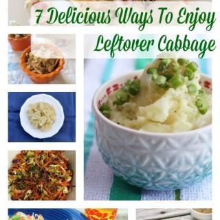 7 Easy & Tasty Ways To Enjoy Leftover Cabbage...beyond cole slaw! | Teaspoonofspice.com