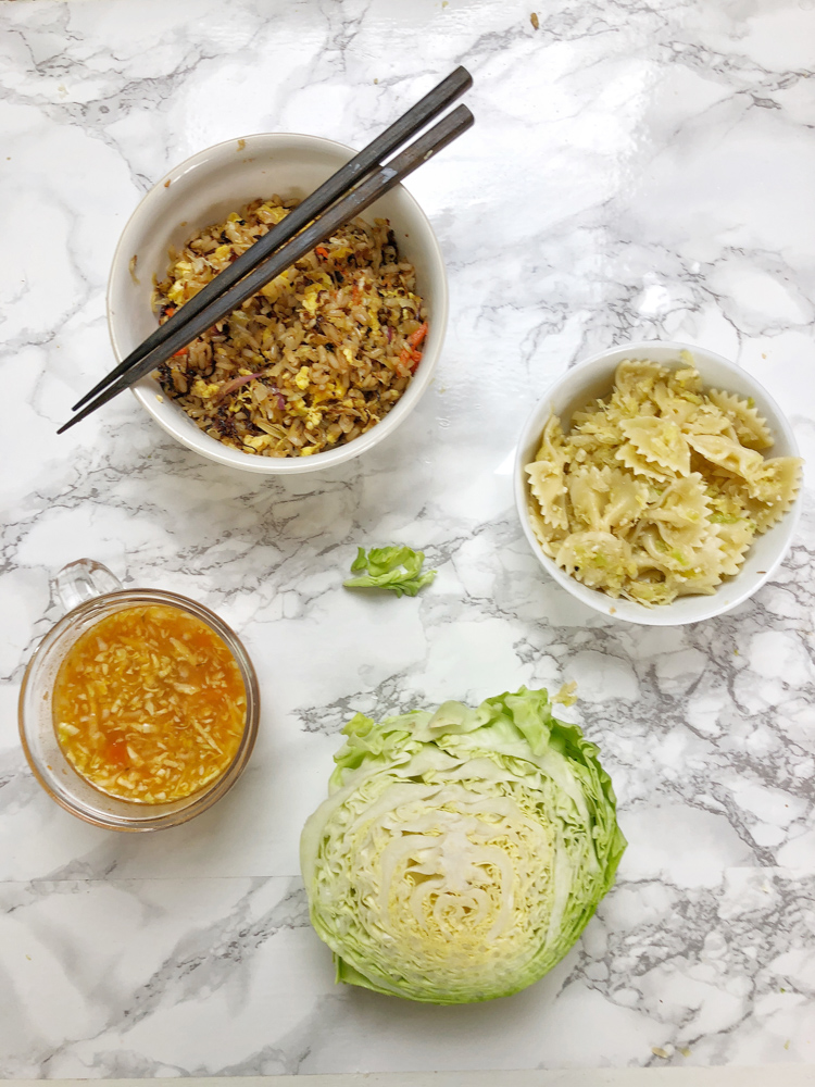 Easy and delicious ways to use up that leftover cabbage! Recipe ideas at Teaspoonofspice.com