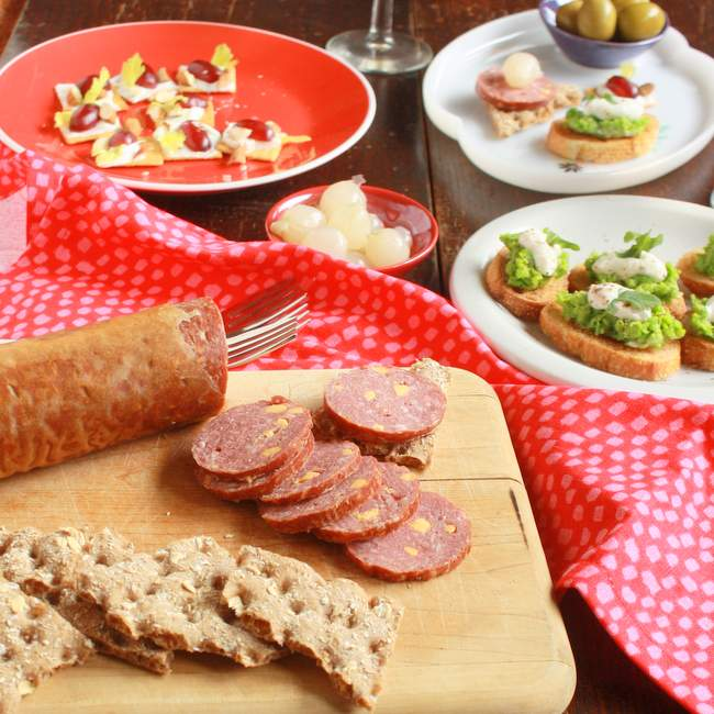 salami and cheese appetizer