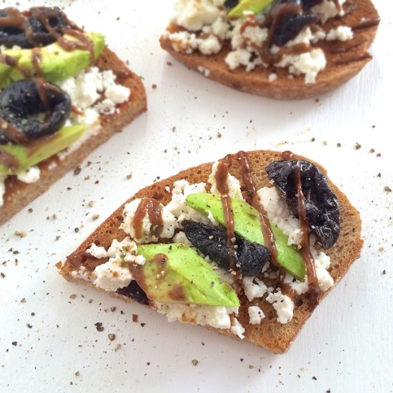 Prune Ricotta Avocado Toast