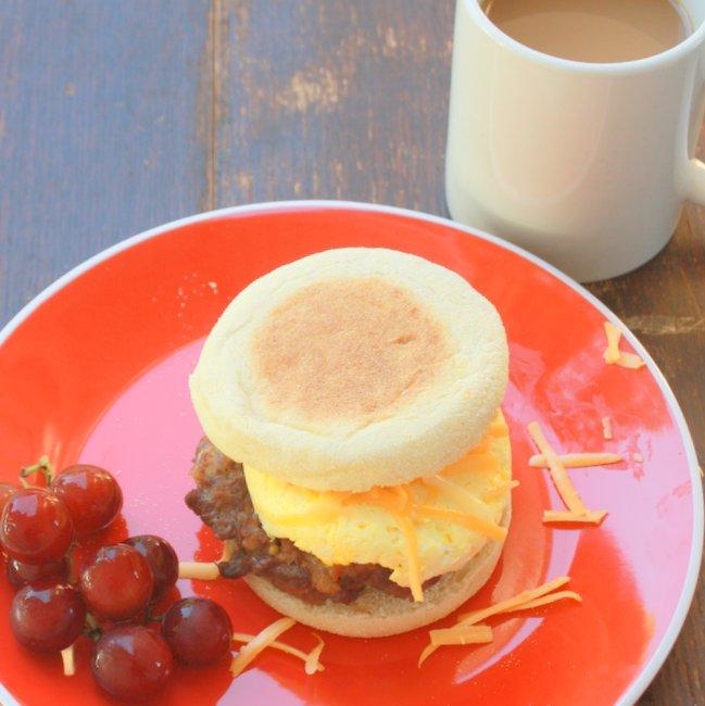 jimmy dean sausage egg sandwich copy cat