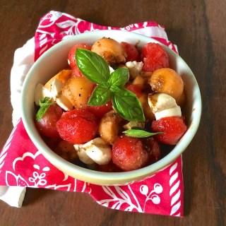 Melon Caprese Salad | Teaspoonofspice.com @tspbasil