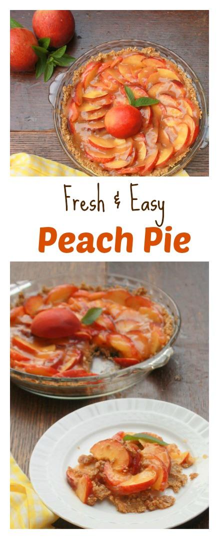 How to Make Fresh Easy Peach Pie | TeaspoonOfSpice.com