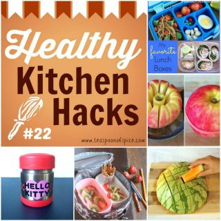 Healthy Kitchen Hacks - Back to School Edition: Dietitian's Favorite Lunchboxes, How to Pack Apple Slices, How to Pack Watermelon, Cracker Stackers and How to Keep Hot Lunches Hot In Lunchboxes @tspbasil