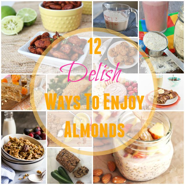 Make your own almond milk, protein powder or granola with these 12 delicious fun almond recipes @tspbasil