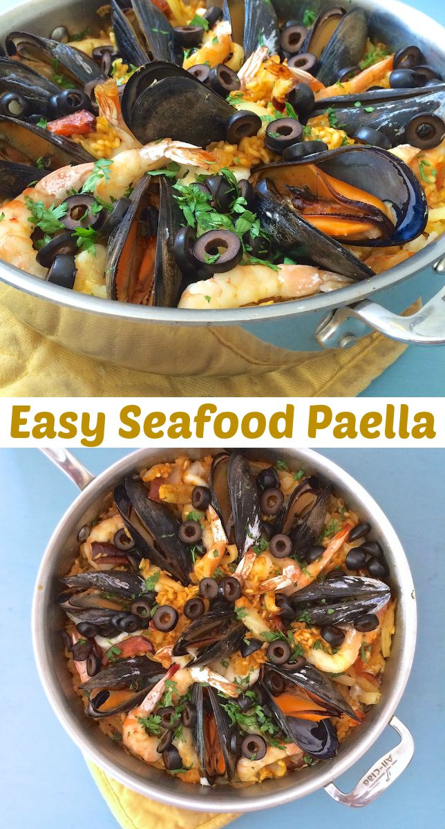 Don't be intimidated by this traditional Spanish rice dish - making Seafood Paella is easier than you think! @tspbasil #sponsored