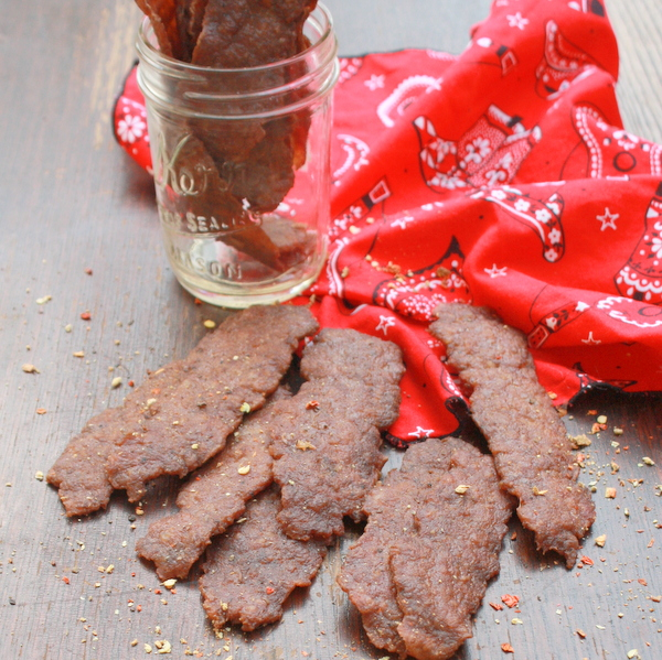 Copycat version of TRADER JOES: How to Make Bacon Turkey Jerky | TeaspoonOfSpice.com
