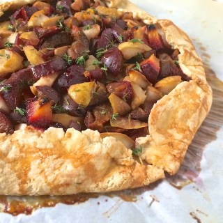 Plum Pear Crostata