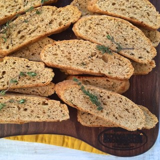 Cheddar Cheese Biscotti: Edwards Crossroads Cutting Board Giveaway