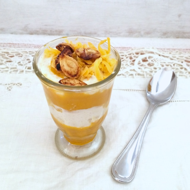 Mini Cheesy Pumpkin Parfaits | Teaspoonofspice.com