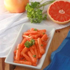 Grapefruit Honey Glazed Carrots