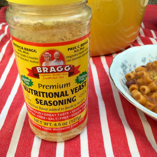 Nutritional yeast is the perfect topper for this vegan Pasta e Fagioli @tspbasil