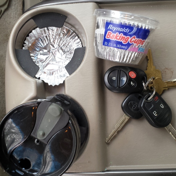 #HealthyKitchenHacks - Never Clean Your Cup Holder Again! | @tspcurry