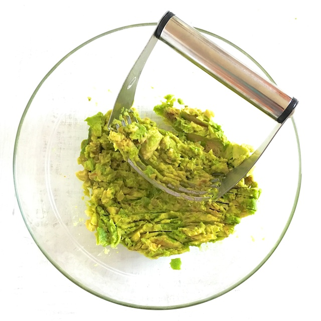 Healthy Kitchen Hacks- Easy Way to Mash Avocados @tspbasil