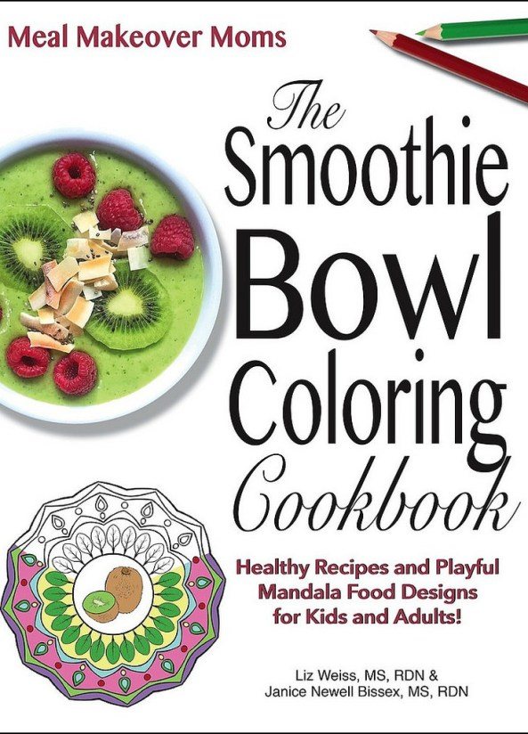 17 Smoothie Bowl recipes from food loving dietitians + FREE Smoothie Bowl Coloring book from @mealmakeovermoms