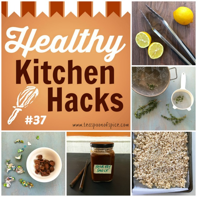 Healthy Kitchen Hacks: *Cool Way to Juice a Lemon* *DIY Stir Fry Sauce* *How To Freeze Rice* *How To Strip Herbs From Stem* *How to Use Up Leftover Easter Chocolate* @tspbasil