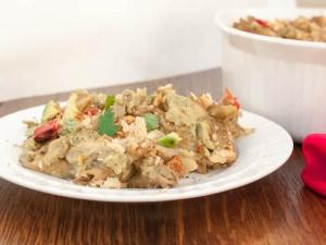 Creamy Avocado Noodles and Tuna Casserole