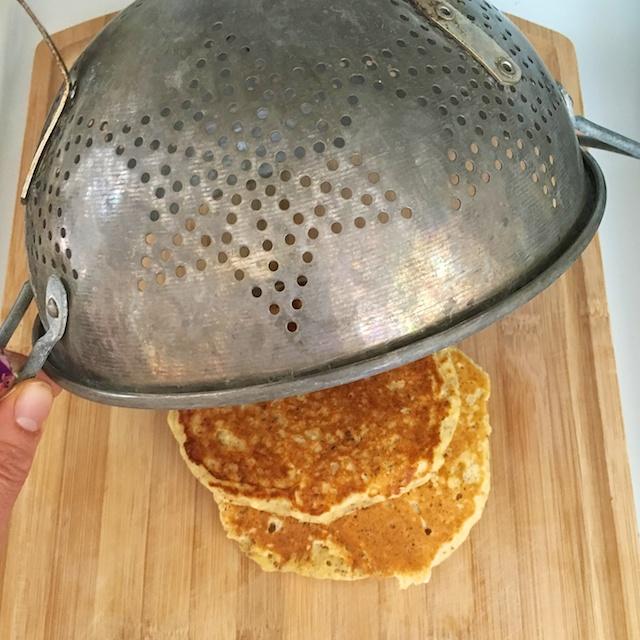 Healthy Kitchen Hacks - Easy Hack to Keep Pancakes Warm @tspbasil