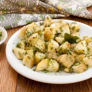 New Potatoes with 5-Minute Mint Pesto
