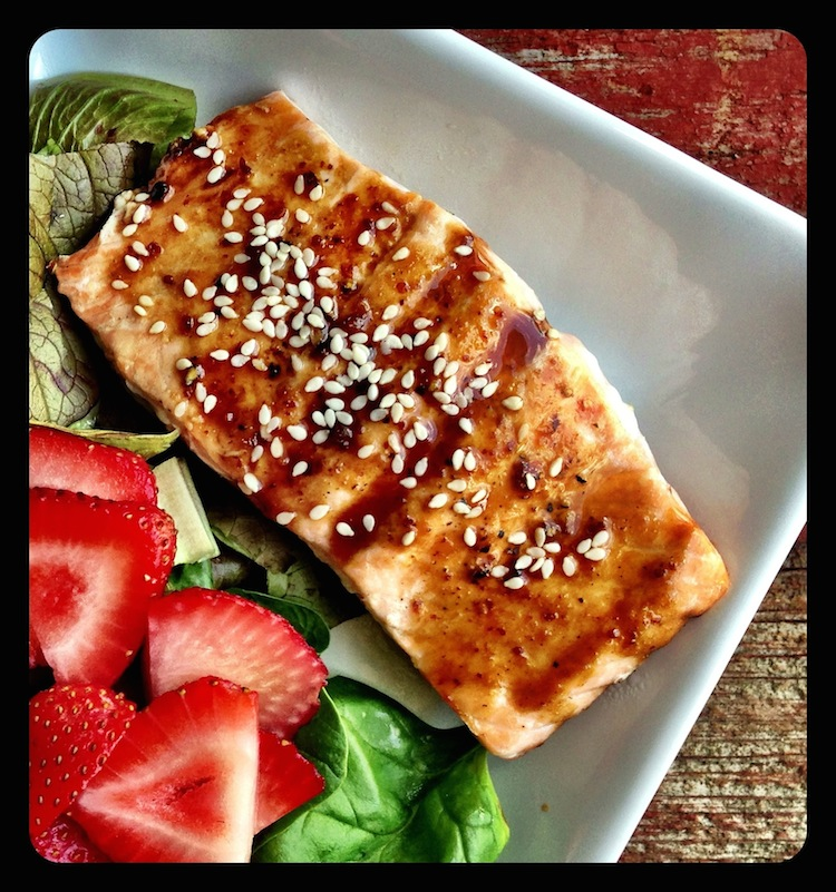 13 Drool-Worthy and Better for You Barbecue Sauces + Marinades: Grilled Scrumptious Salmon Salad