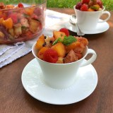 Healthy Kitchen Hacks -How to add instant flavor to fruit salad + recipe for Honey Panzanella Fruit Salad