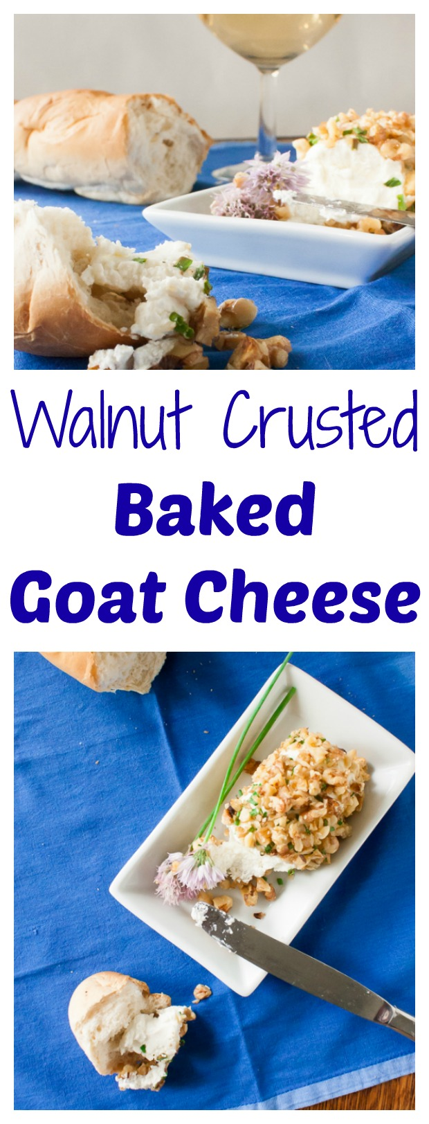 Melty goat cheese. Toasted walnuts. Easy, classy app: Walnut Crusted Baked Goat Cheese | @tspcurry