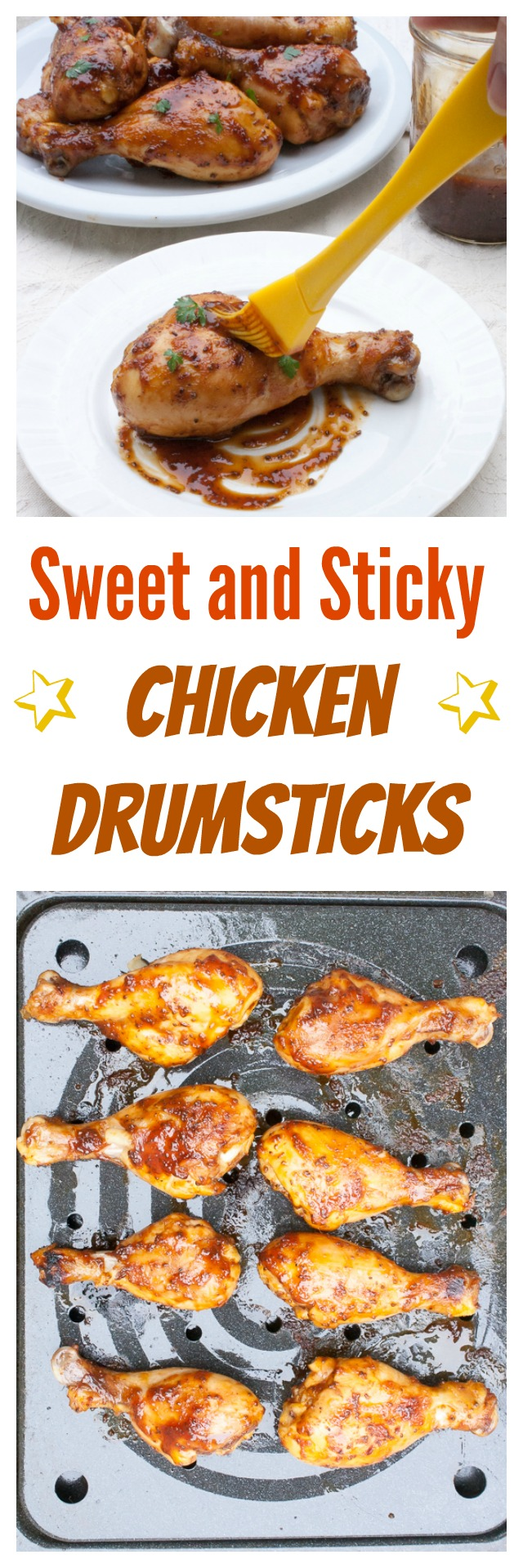 Just what you're craving! Sweet and Sticky Chicken Drumsticks | @tspcurry
