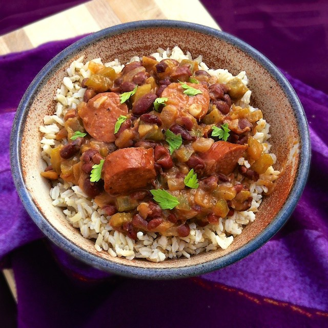 A healthier bent on the traditional Southern rice & beans: Easy Louisiana Red Beans & Brown Rice