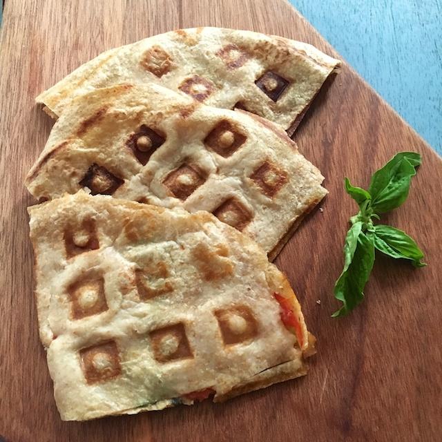 Healthy Kitchen Hacks -Waffle Quesadillas