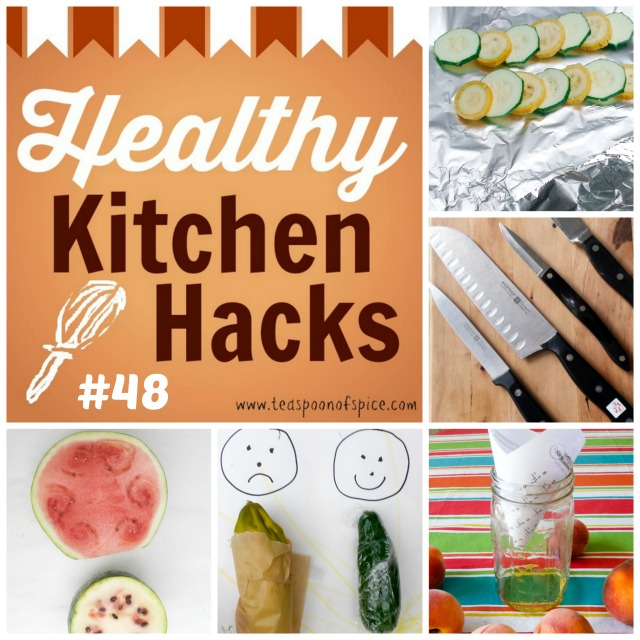 #HealthyKitchenHacks - HOW TO PICK A SWEET WATERMELON * GET KNIVES SHARPENED FOR FREE * NATURAL WAY TO GET RID OF FRUIT FLIES * BEST WAY TO STORE CUCUMBERS * WHICH SIDE OF TIN FOIL IS NON-STICK