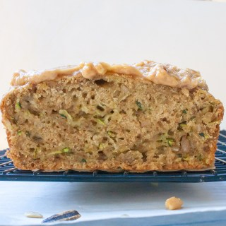 Sunflower Seed Zucchini Bread with Sunflower Butter Glaze