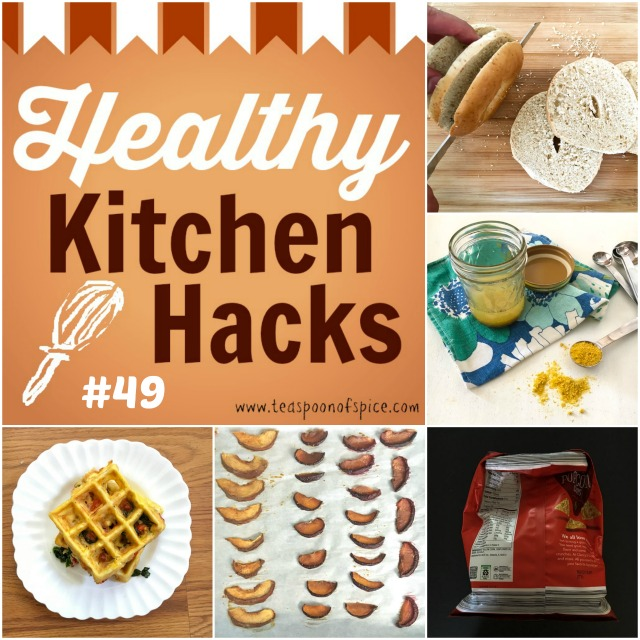Healthy Kitchen Hacks: How to Downsize a Bagel, How to Make Dried Fruit in Oven, Make Eggs in Your Waffle Iron, Secret Ingredient to Salad Dressings and How to Close a Snack Bag Without a Clip