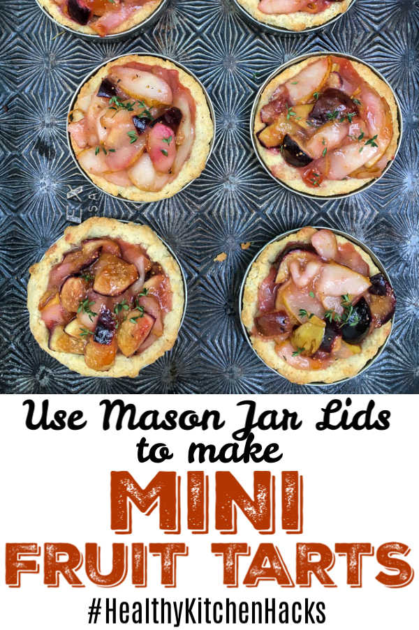 Try this easy #HealthyKitchenHacks to make mini fruit tarts at home! Recipe at Teaspoonofspice.com #fruittarts #masonjars #minidesserts #desserts #fruit #fruitdesserts