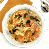 Healthy Italian-American comfort food made easy: chicken soup with pastina and greens.