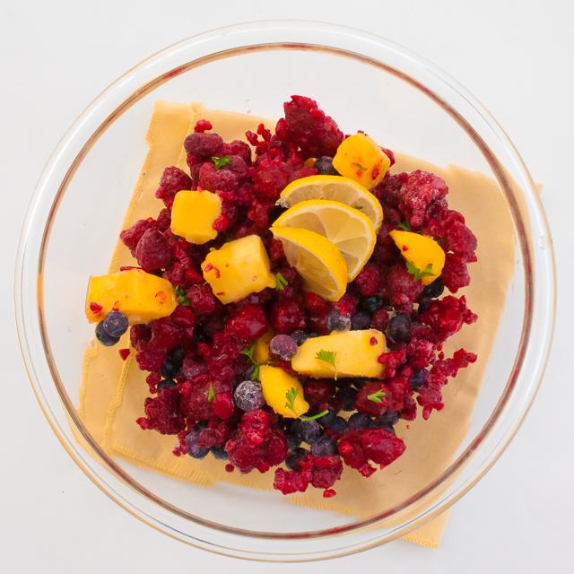 Always in season fruit: FROZEN FRUIT SALAD #Healthy Kitchen Hacks | @TspCurry - For more #HealthyKitchenHacks >> TeaspoonOfSpice.com