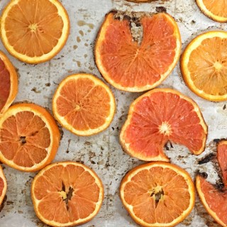 Learn how easy it is to roast orange and grapefruit slices -they are sweet as candy! Healthy Kitchen Hacks at Teaspoonofspice.com