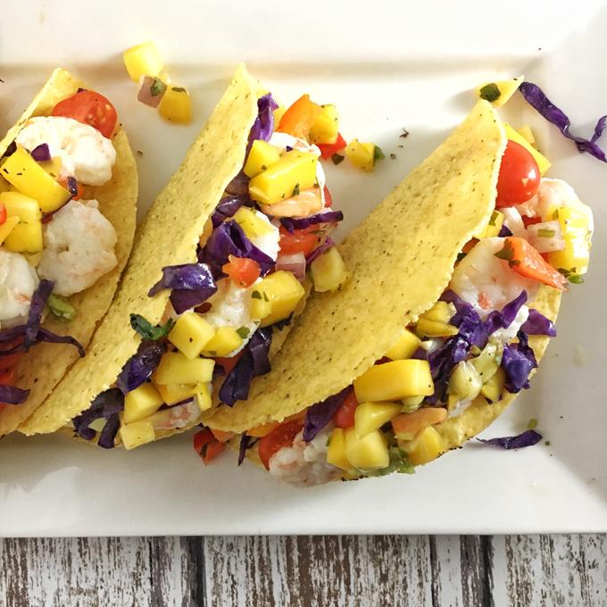 Rainbow Shrimp Tacos