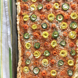 Mediterranean Vegetable Rose Tart