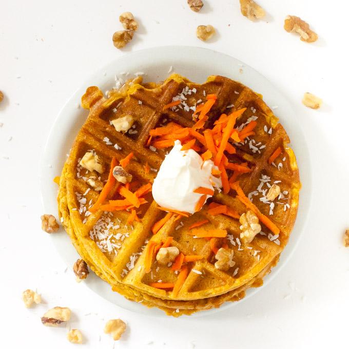 Easy Carrot Cake Waffles   @TspCurry