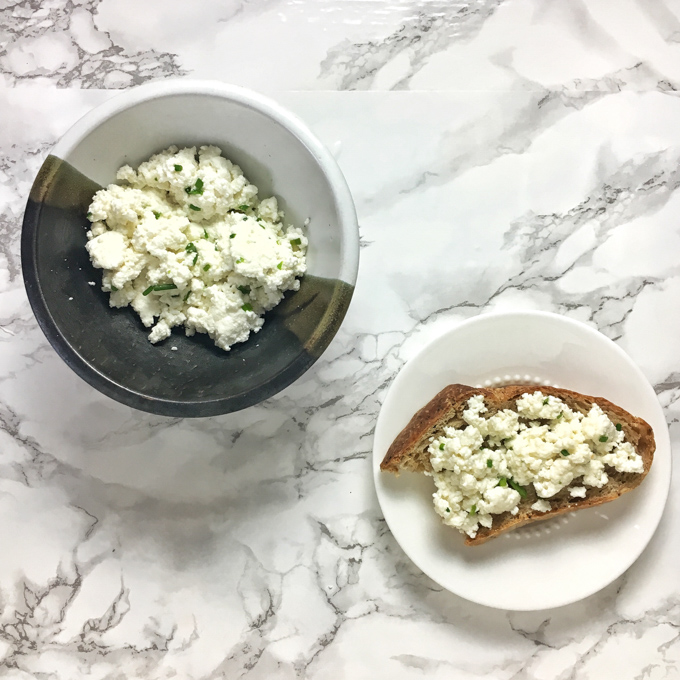 All you need is two ingredients, cheesecloth and 15 minutes to make homemade ricotta! Recipe at Teaspoonofspice.com