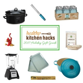 Here are our gift suggestions to help your family and friends cook more effectively, nutritiously and deliciously in the kitchen: find our complete Healthy Kitchen Hacks gift guide at Teaspoon of Spice.com