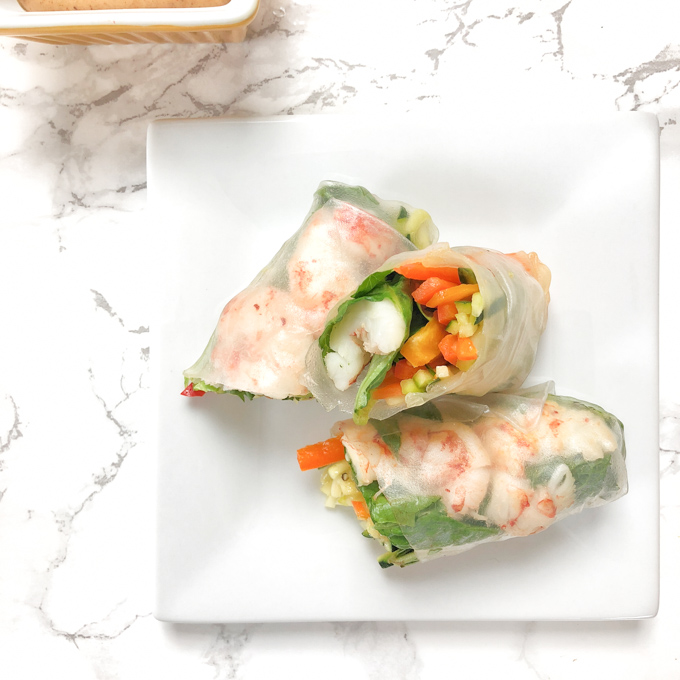 Chopping the vegetables is the most complicated part ofVietnamese-style spring rolls - make them at home with these tips and a 3-ingredient peanut dipping sauce. Recipe at Teaspoonofspice.com