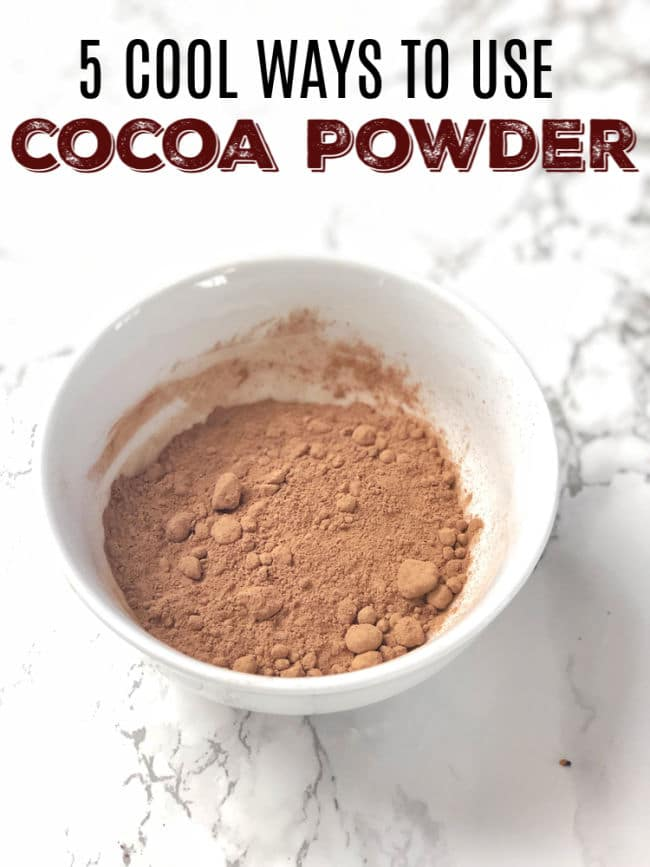 Add unsweetened cocoa powder in these everyday type of recipes like oatmeal, peanut butter, spice rubs and more for a hit of chocolate flavor! Healthy Kitchen Hack at Teaspoonofspice.com #cocoapowder