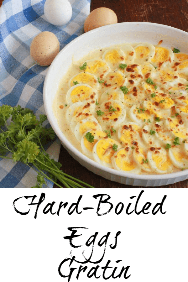 Easy to make - delicious as an appetizer or simple supper with salad. Use up leftover Easter eggs: Hard Boiled Egg Gratin. For more #healthy recipes, follow @TspCurry and visit TeaspoonOfSpice.com