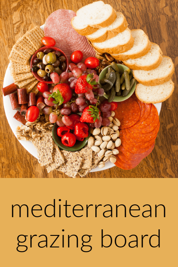 A grazing board is perfect for easy entertaining - here are tips for making a sunny Mediterranean Picnic Plate that looks as delicious as it tastes. Follow @TspCurry for more yummy recipes!