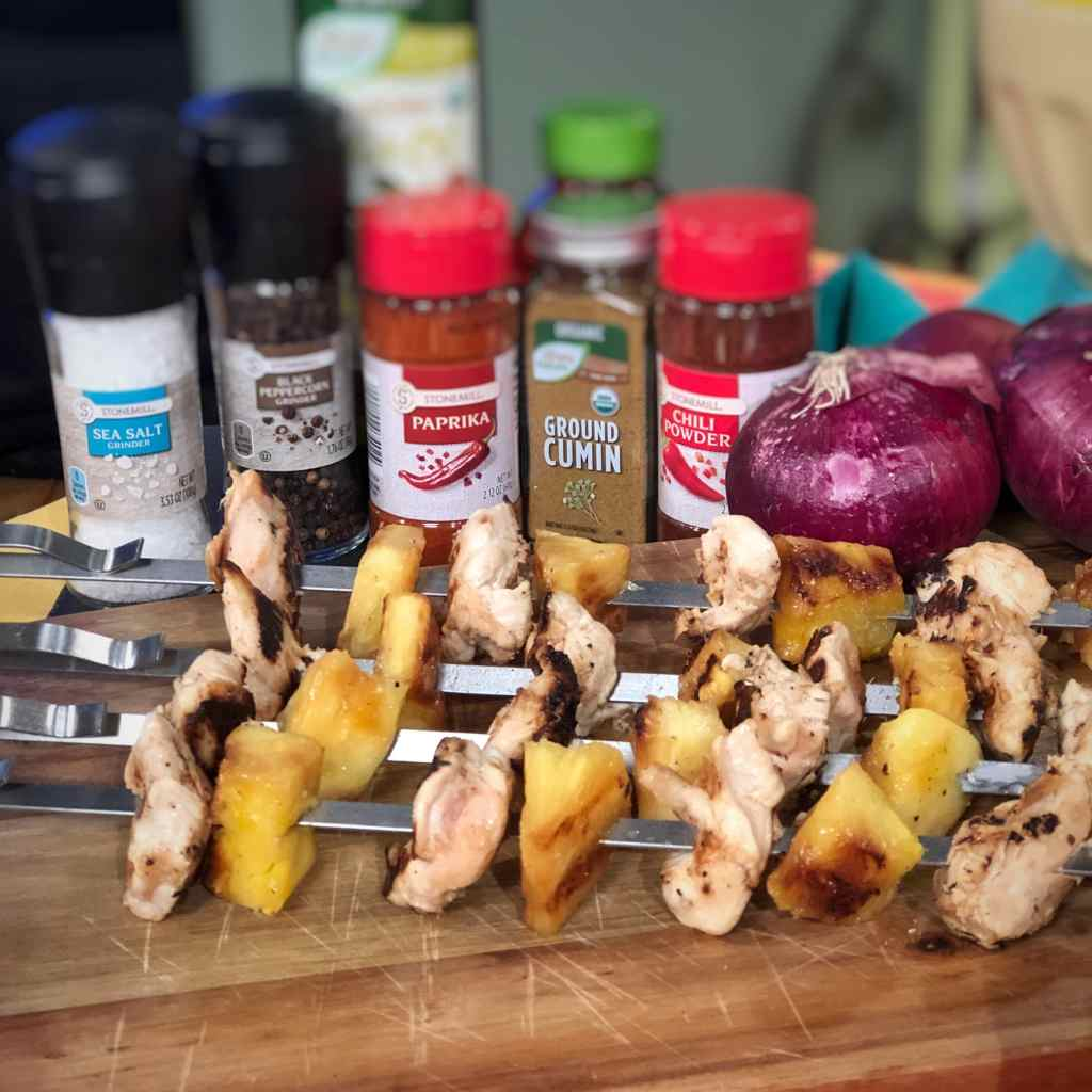 Grilled Chicken and Pineapple Skewers from ALDI