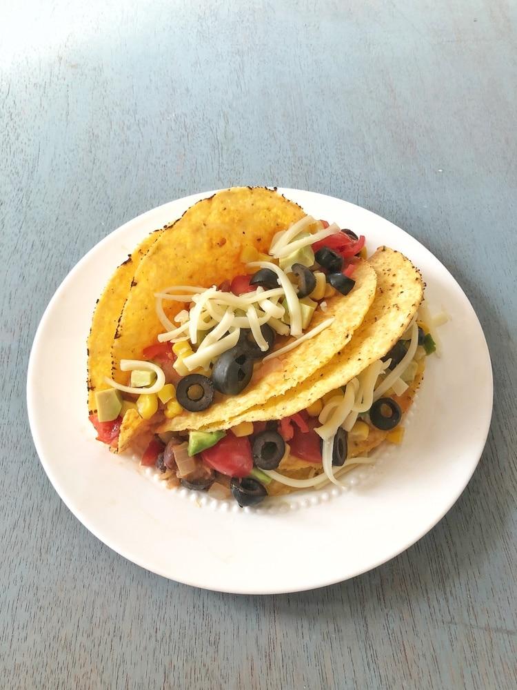 Vegetarian Sloppy Joe Tacos | Teaspoonofspice.com